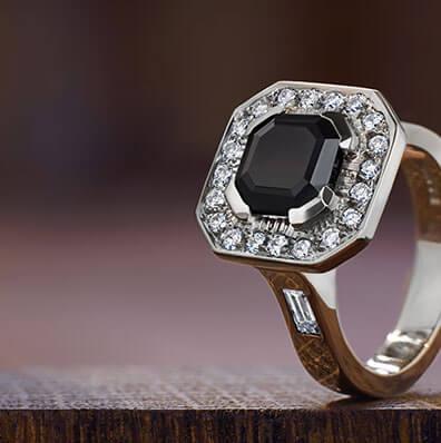 Black Engagement Rings Harriet Kelsall